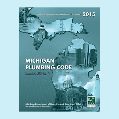 Book Image 2015 Michigan Plumbing Code