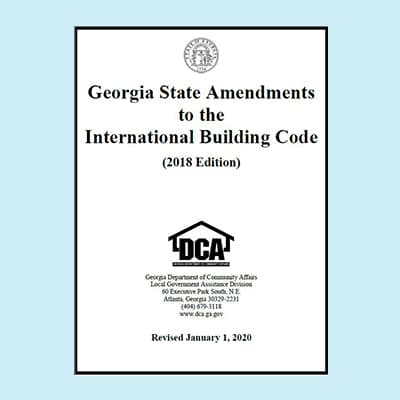 Book Image Georgia State Amendments to the International Building Code 2018 Edition