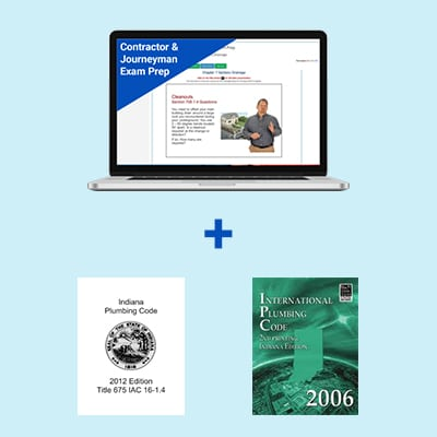 Product Image Indiana Plumbing Contractor & Journeyman Course and Book Exam Prep Package