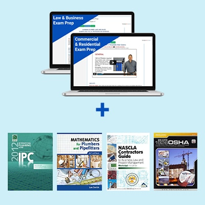 Product Image Mississippi Unlimited Commercial & Residential Plumber Course and Book Exam Prep Package