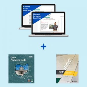 Product Image Ohio Plumbing Contractor Course and Book Exam Prep Package