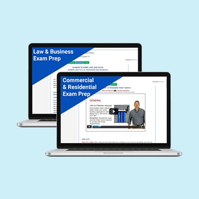 Product Image Mississippi Unlimited Commercial & Residential Plumber Dual Course Exam Prep Package