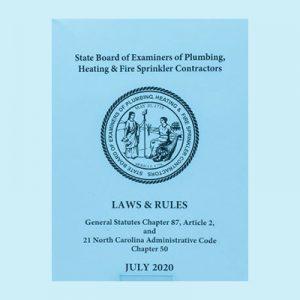 Book Image North Carolina Plumbing Laws & Rules