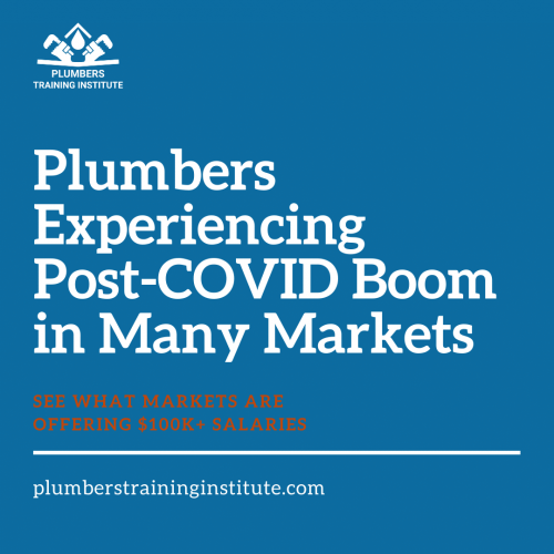 Plumbers Experiencing Post-COVID Boom in Many Markets