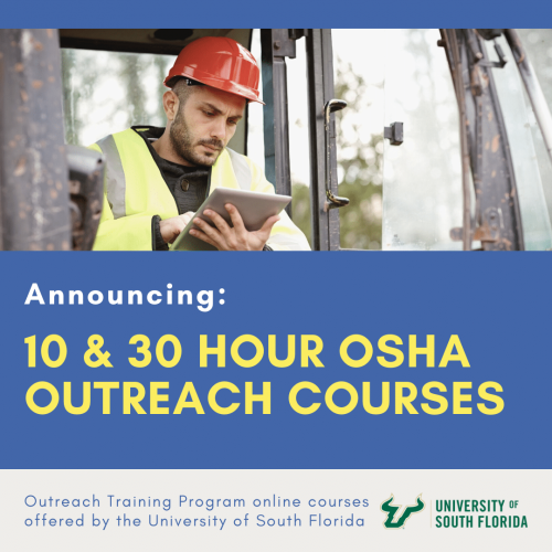 Plumbers Training Institute Excited to Announce New OSHA Outreach Courses